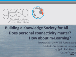 Towards Knowledge Society for All