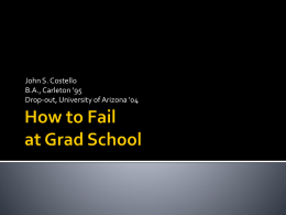 How to Fail at Grad School