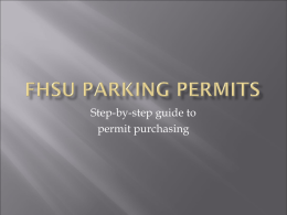 FHSU Parking permits - Fort Hays State University