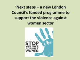 Next steps – a new London Council's funded programme to