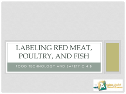 Labeling Red Meat, Poultry, and Fish
