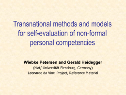 Transnational methods and models for self