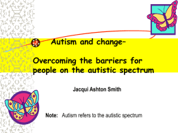 Positive futures for people with an Autistic Spectrum