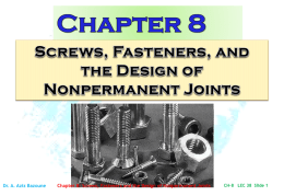 Mechanical Engineering Design Chapter 8