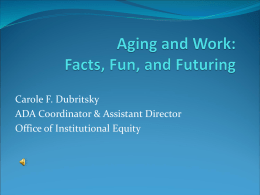 Aging and Work - University of Michigan HR