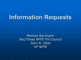Information Requests and ULPs
