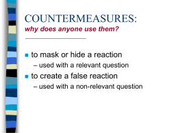 COMMON COUNTERMEASURES