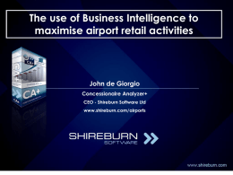 The use of Business Intelligence to maximise airport
