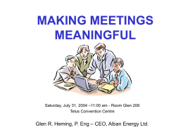 MAKING MEETINGS MEANINGFUL