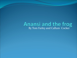 Anansi and the frog