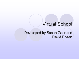 Virtual School - SusanGaer.com