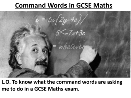 5 Maths Command Words Guide