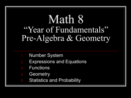 "Math 8 ""Year of Fundamentals"""