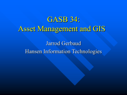 GASB 34: Implication for Storm Water Management Programs