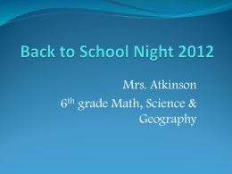 Back to School Night 2010 - Twelve Bridges Middle School Band