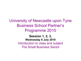 University of Newcastle upon Tyne Business School Partner