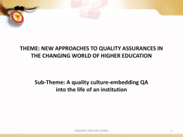 QA in Medical Education at GMC – 1998 to 2008