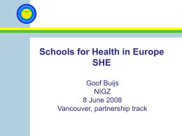 Dia 1 - Joint Consortium for School Health