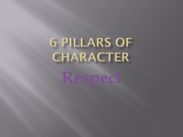 6 Pillars of Character - DuBois Area School District
