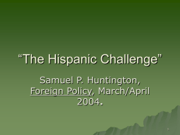 "The Hispanic Challenge"" - City University of New York"