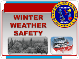 Winter Weather Safety - New Jersey School Building