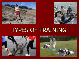 The Training Session And Specific Training Methods