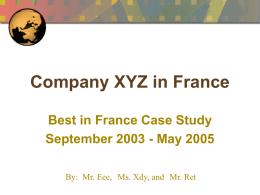 Company XYZ in France