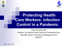 Protecting Health Care Workers: Infection Control in a
