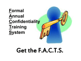Formal Annual Confidentiality Training System