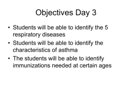 Objectives Day 3