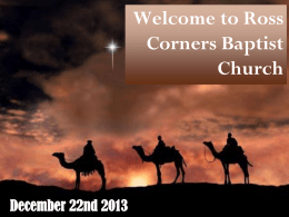 Welcome to Ross Corners Baptist Church