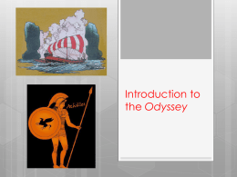 Introduction to the Odyssey - Harding Charter Preparatory