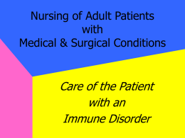 Nursing of Adult Patients with Medical & Surgical Conditions