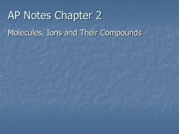 AP Notes Chapter 3