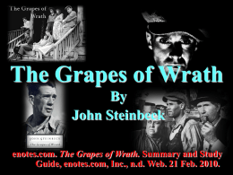 The Grapes of Wrath - Ten English Honors