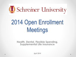 Schreiner University Benefits Enrollment
