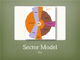 Hoyt's Sector Model - Department of Geography