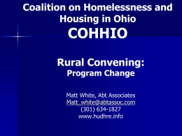 Part 11 CoC Plan - Coalition On Homelessness and Housing