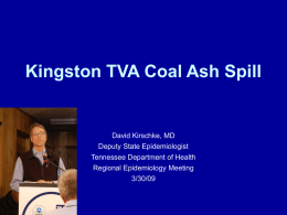 Kingston TVA Coal Fly Ash Spill