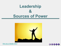 Leadership & Sources of Power