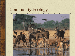 Community Ecology - Faculty Web Sites