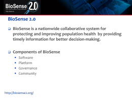BioSense Introduction for CSTE Members