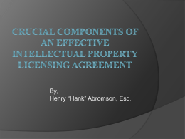 Crucial Components of An Effective Intellectual Property