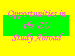 Opportunities in the EU - Centro Linguistico Uniparthenope