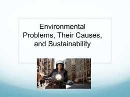 CHAPTER 1 Environmental Problems, Their Causes, and