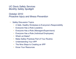 UC Davis Safety Performance