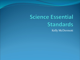 Science Essential Standards - Henderson County Public Schools