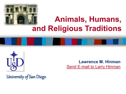 Animals and Religion
