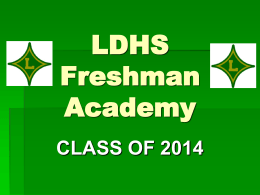 Freshmen Academy - Laurens School District 55