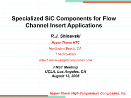 Mechanical & Thermal Evaluation of SiC/SiC